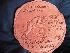 Bild av odlaren Nils Johansson. Lera, 2004.